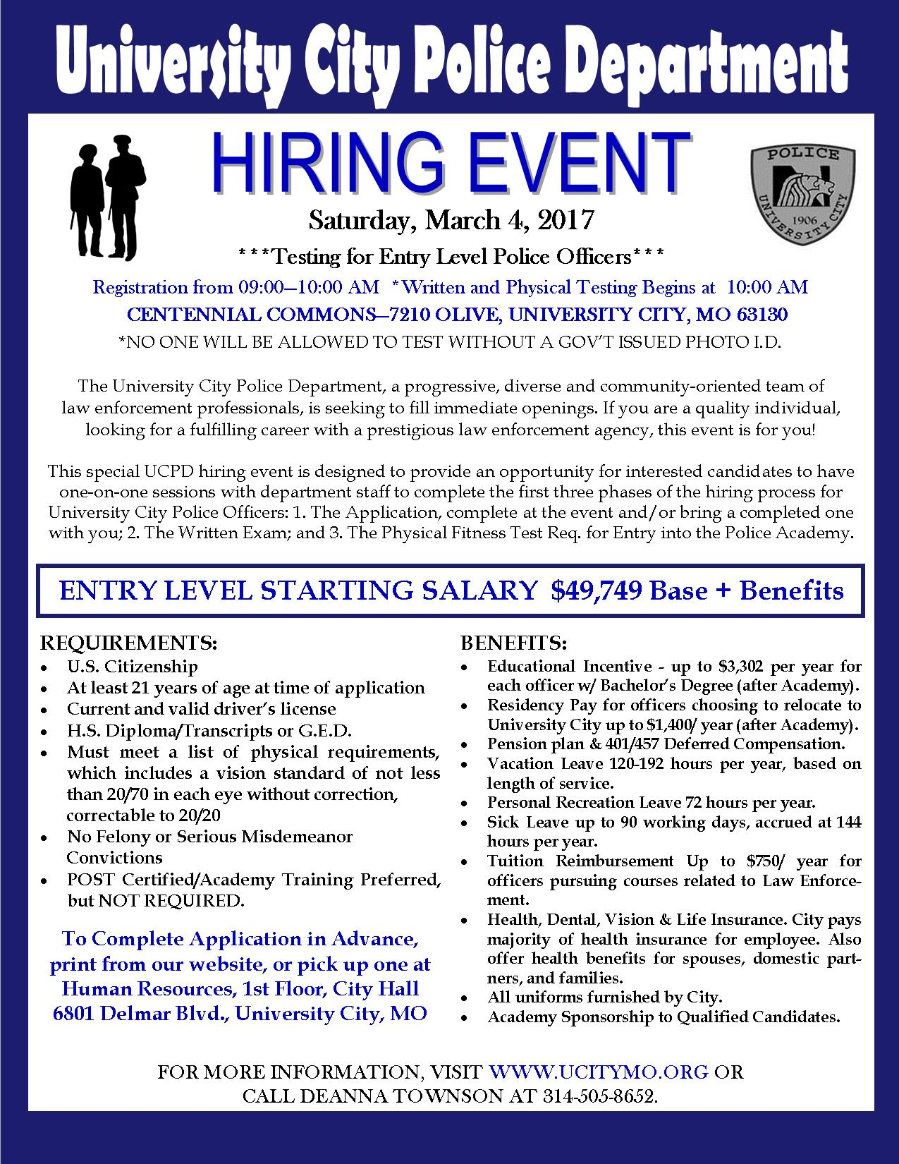 Hiring Event - March 2017