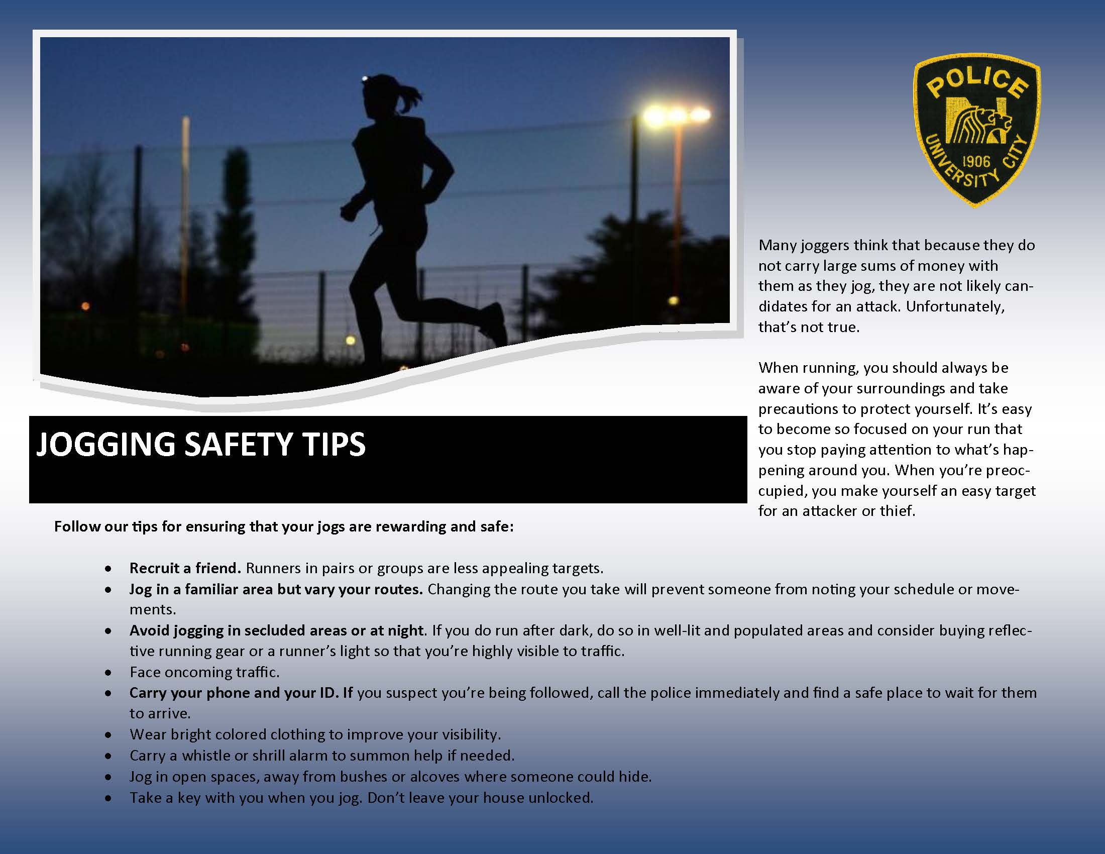 Jogging Safety Tips
